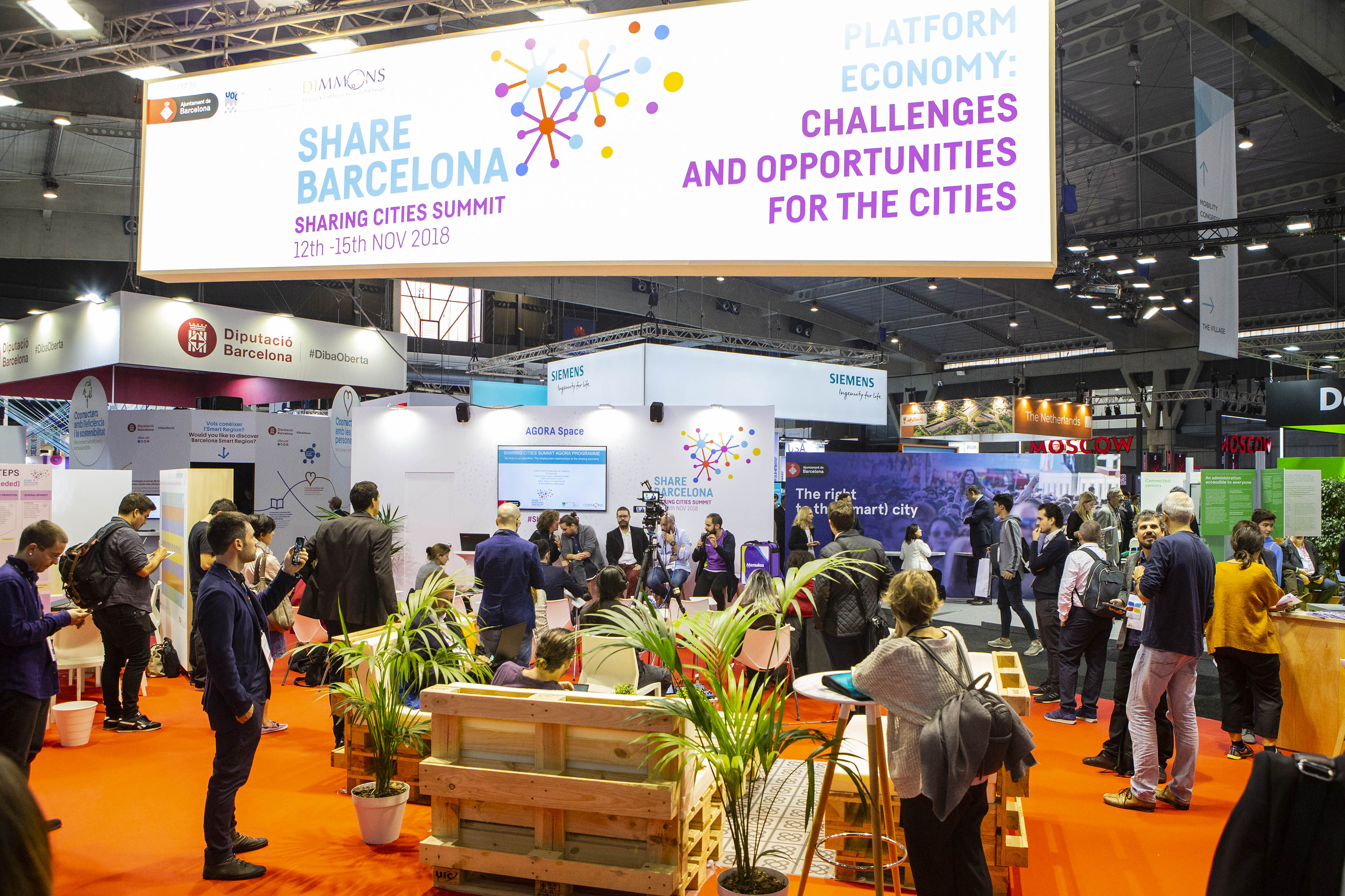 Sharing Cities Summit Stand at SCEWC