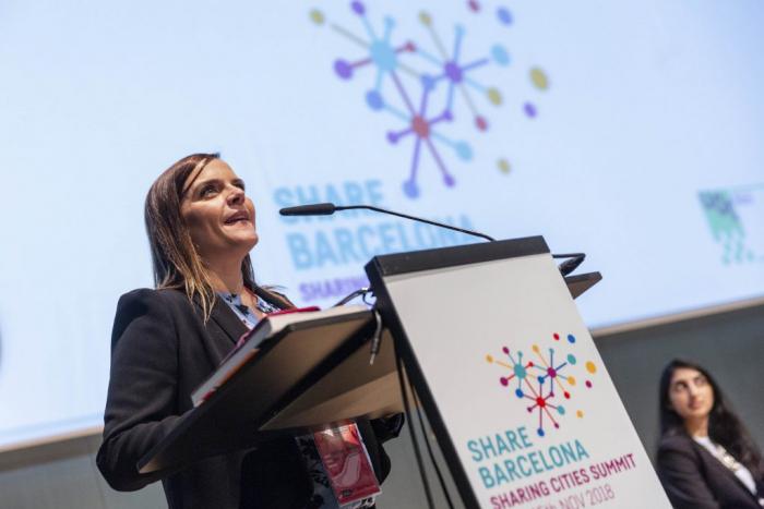 Pastora Martinez in Sharing Cities Summit 2018